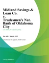Midland Savings  Loan Co V Tradesmens Nat Bank Of Oklahoma City