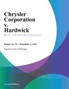 Chrysler Corporation V Hardwick