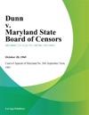 Dunn V Maryland State Board Of Censors