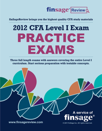 CFA Level I Exam Review Notes: Practice Exams