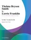 Thelma Bryson Smith V Lorrie Franklin