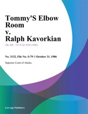 Download and Read Online Tommys Elbow Room v. Ralph Kavorkian