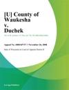 County Of Waukesha V Duchek