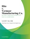 Hite V Vermeer Manufacturing Co