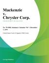 Mackenzie V Chrysler Corp