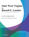 State West Virginia V Russell E Lassiter