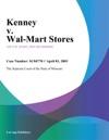 Kenney V Wal-Mart Stores