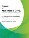 Dayan V Mcdonalds Corp