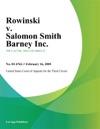 Rowinski V Salomon Smith Barney Inc