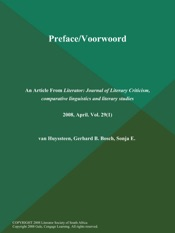 Download and Read Online Preface/Voorwoord