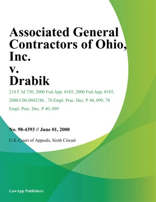 Associated General Contractors of Ohio, Inc. v. Drabik