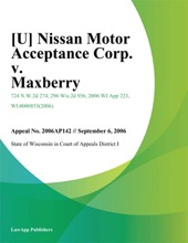 Nissan Motor Acceptance Corp. v. Maxberry