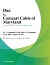 Dua V Comcast Cable Of Maryland