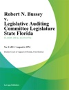 Robert N Bussey V Legislative Auditing Committee Legislature State Florida