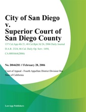 City of San Diego v. Superior Court of San Diego County
