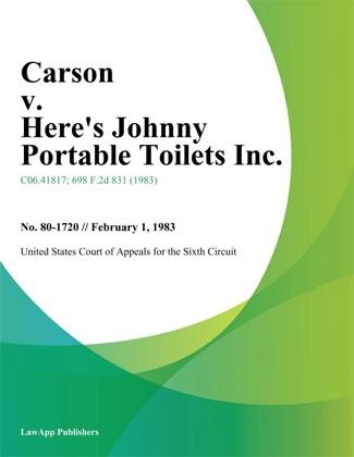 Carson V. Here's Johnny Portable Toilets Inc. image