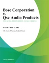 Bose Corporation V Qsc Audio Products