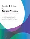 Leslie J Loar V Jeanne Massey