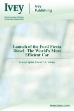 Launch of the Ford Fiesta Diesel: The World's Most Efficient Car