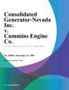 Consolidated Generator-Nevada Inc V Cummins Engine Co
