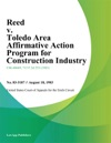 Reed V Toledo Area Affirmative Action Program For Construction Industry