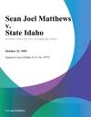 Sean Joel Matthews V State Idaho