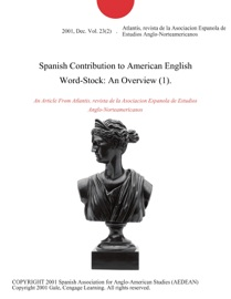 Spanish Contribution To American English Word Stock An Overview 1