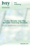 Scotts Miracle-Gro The Spreader Sourcing Decision