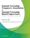 Summit Township Taxpayers Association V Summit Township Board Supervisors