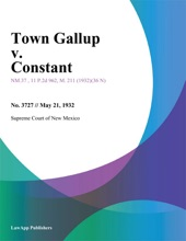 Town Gallup V. Constant