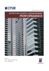 Effective Supply Management Performance