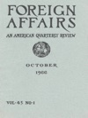 Foreign Affairs - October 1966