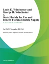 Louis E Winchester And George R Winchester V State Florida For Use And Benefit Florida Electric Supply