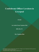 Confederate Officer Lovelorn In Liverpool (Local)