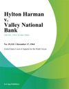 Hylton Harman V Valley National Bank