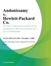 Andonissamy V Hewlett-Packard Co