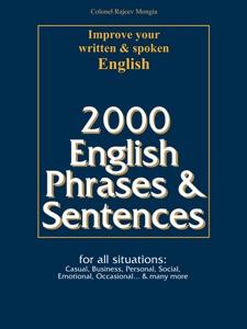 2000 English Phrases & Sentences da Colonel Rajeev Mongia