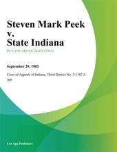 Steven Mark Peek v. State Indiana