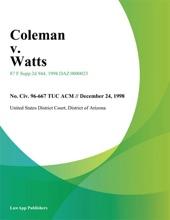 Coleman v. Watts