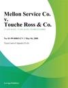 Mellon Service Co V Touche Ross  Co