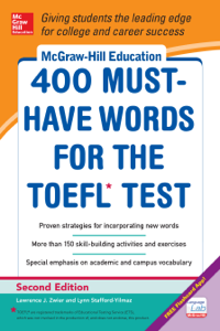 McGraw-Hill Education 400 Must-Have Words for the TOEFL, 2nd Edition La couverture du livre martien