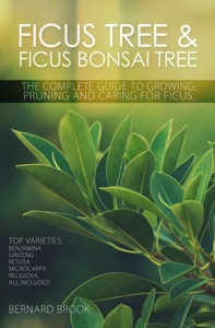 Ficus Tree and Ficus Bonsai Tree. The Complete Guide to Growing, Pruning and Caring for Ficus Book Cover
