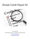 Simple Credit Repair Kit
