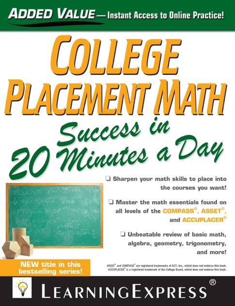 College Placement Math Success In 20 Minutes A Day By