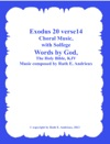 Exodus 20 Verse 14 Choral Music-with Solfege