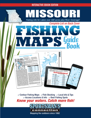 Missouri Fishing Maps Guide Book - Sportsman's Connection book