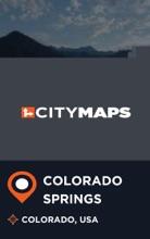 City Maps Colorado Springs Colorado, USA