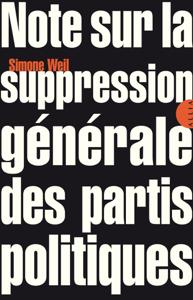 Note sur la suppression générale des partis politiques La couverture du livre martien