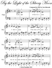 By The Light Of The Silvery Moon Easy Piano Sheet Music