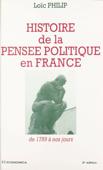 Histoire de la pensée politique en France : de 1789 à nos jours